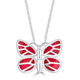 "Medium ""Butterflies Are Free"" Enamel Pendant Necklace"