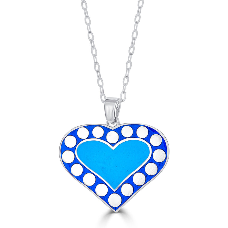 Reversible Enamel Heart Design