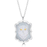 THE OWLS ARE NOT WHAT THEY SEEM Pendant Necklace