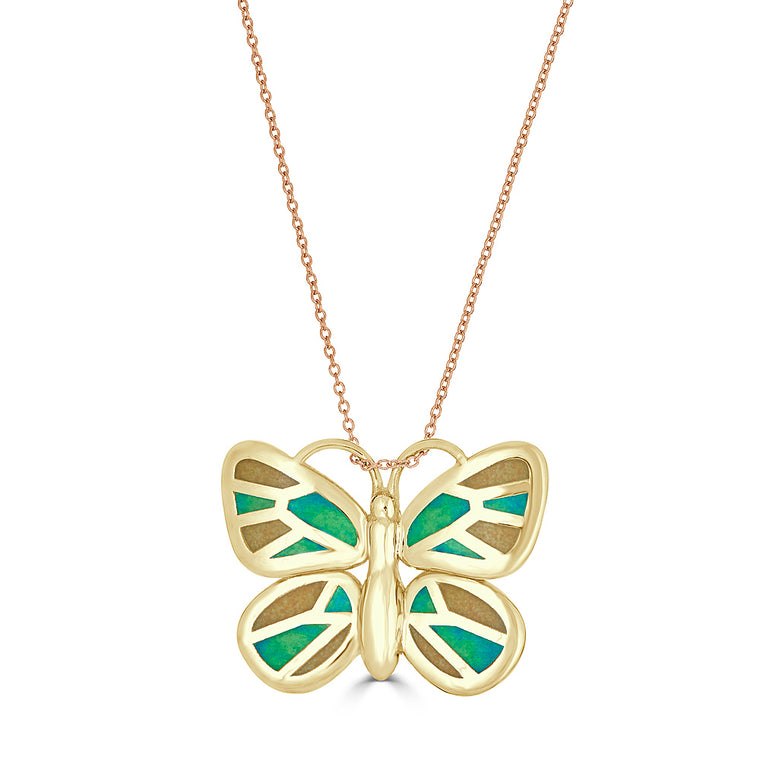 Golden Butterflies Are Free Necklace