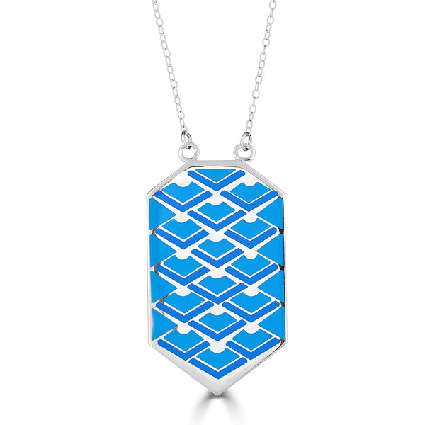 Art deco enameled pendant