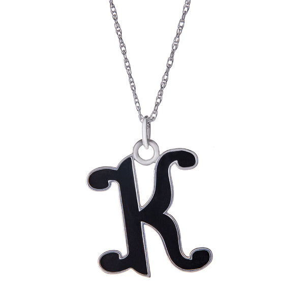 Alphabet Initial Pendant Necklace