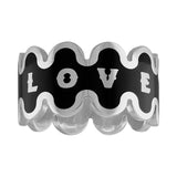 Love Wave Enamel Ring