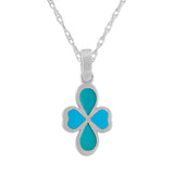 Quatrefoil Design Enamel Pendant Necklace