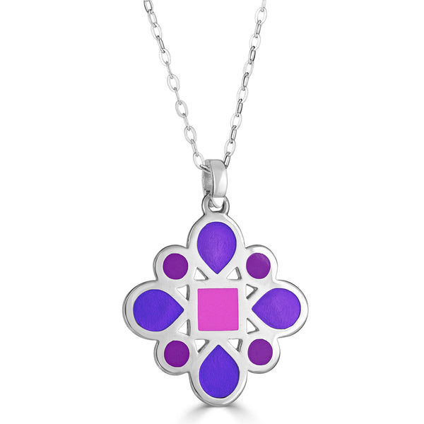 Geometric Design Pendant Necklace