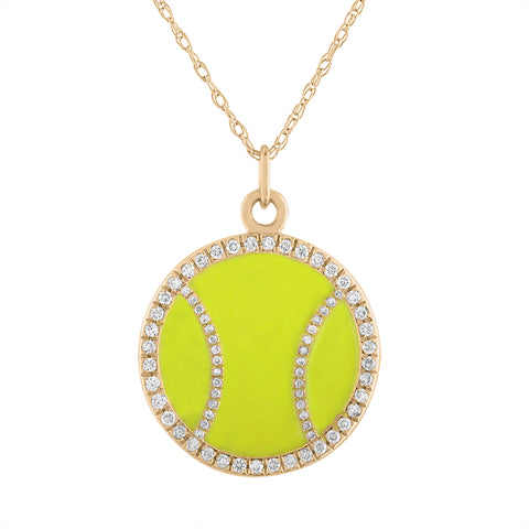 Blingy Diamond Love-Love Tennis Ball Pendant