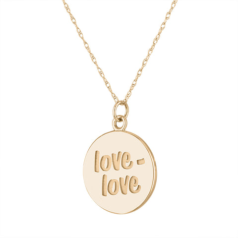 14k gold engraved tennis necklace