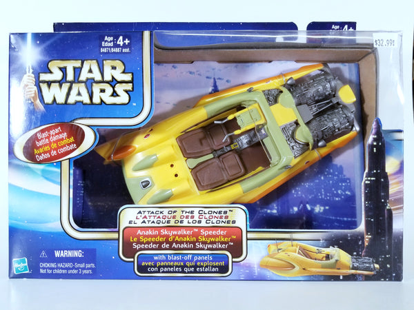 STAR WARS: ATTACK OF THE CLONES - ANAKIN SKYWALKER SPEEDER WITH BLAST-OFF PANELS