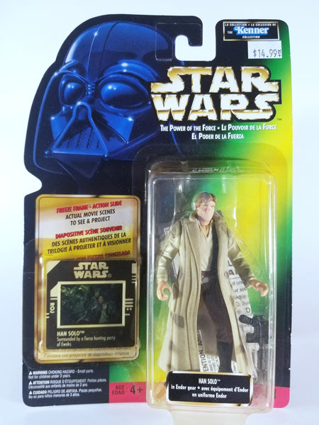 STAR WARS: THE POWER OF THE FORCE - VINTAGE HAN SOLO IN ENDOR GEAR ACTION FIGURE