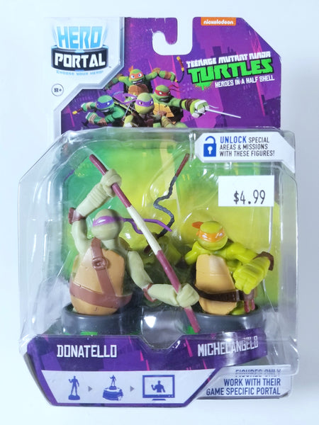 TEENAGE MUTANT NINJA TURTLES: HERO PORTAL - DONATELLO AND MICHELANGELO