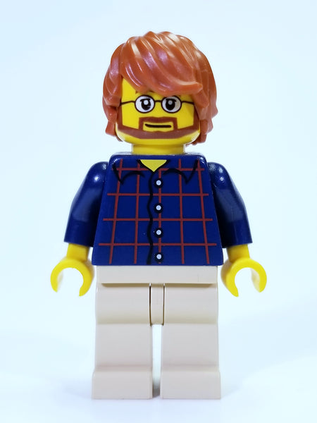 LEGO CITY - MAN IN PLAID SHIRT MINIFIGURE