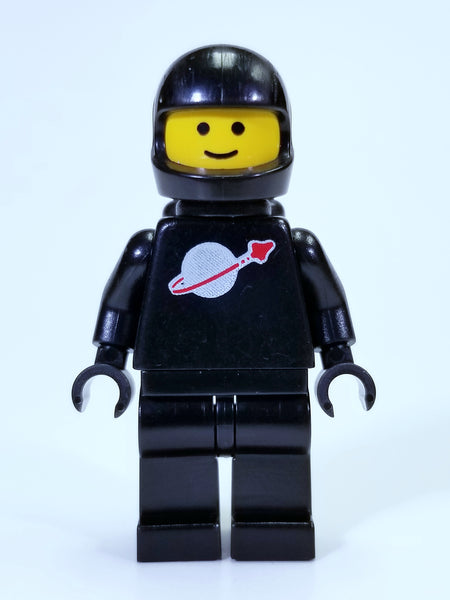 LEGO CLASSIC SPACE - CLASSIC BLACK SPACEMAN WITH AIRTANKS MINIFIGURE