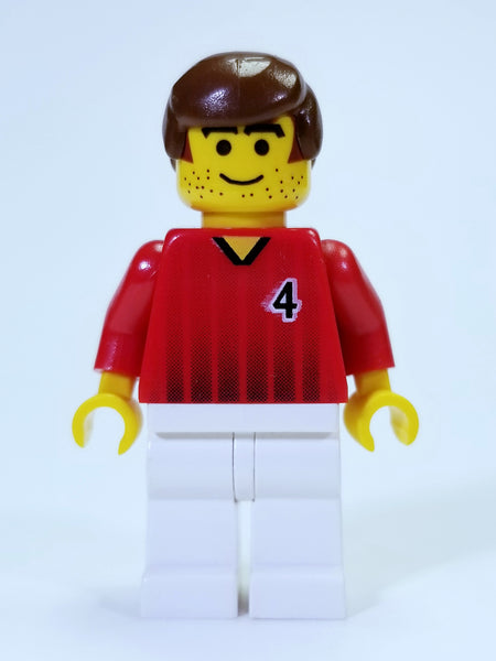 LEGO SOCCER - SOCCER PLAYER #4 MINIFIGURE