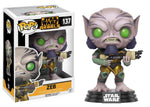 STAR WARS REBELS FUNKO POP! ZEB #137 VINYL FIGURE