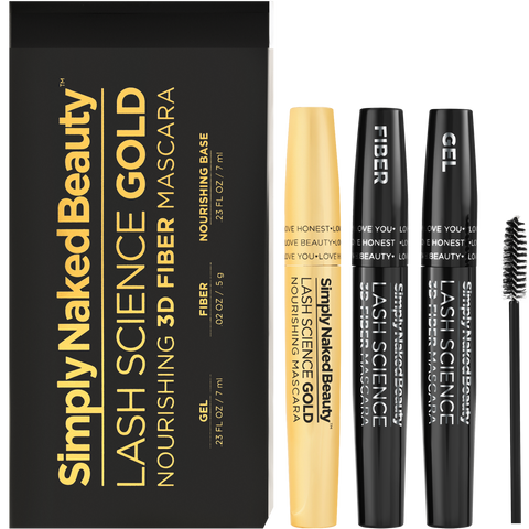 Lash Science Gold - 3D Fiber Lash Nourishing Mascara - Simply Naked Beauty