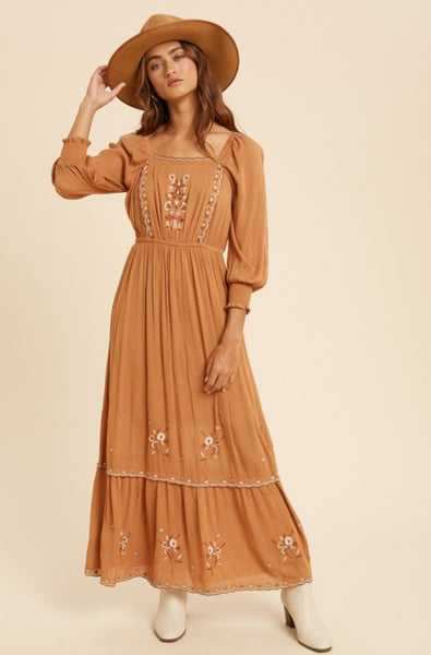 Delphine Embroidered Dress