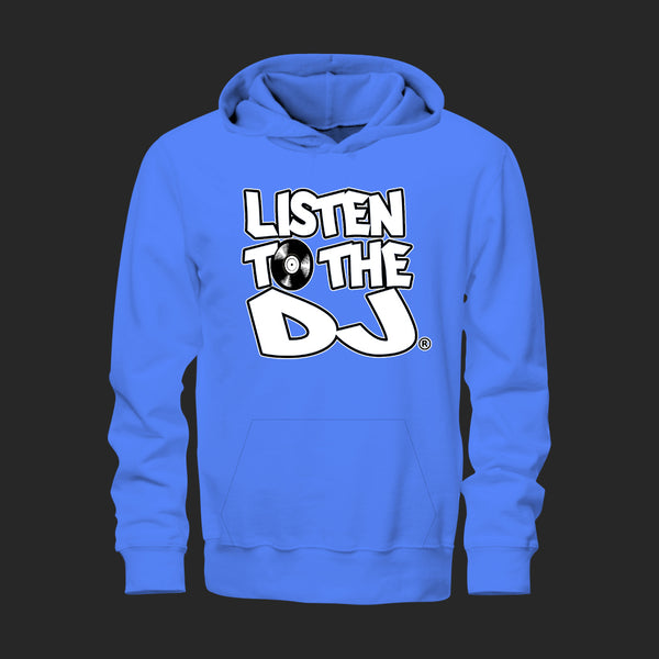 Baby Blue / White Logo - Listen to the DJ Hoodie