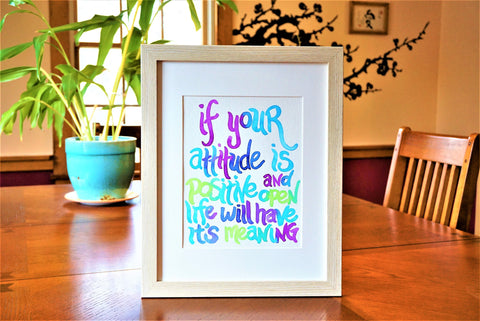 Wall Art Quote Watercolor Print (frame not included) Office/Studio
