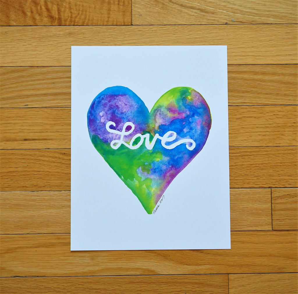 Heart Watercolor Print (without frame)