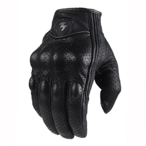 Perforated Leather Motorcycle Gloves