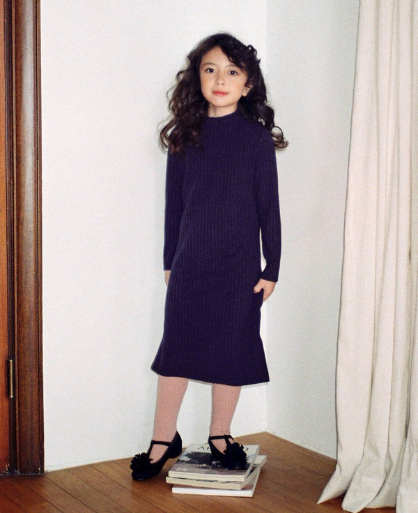 Basic Long Dress - Navy - benne bonbon