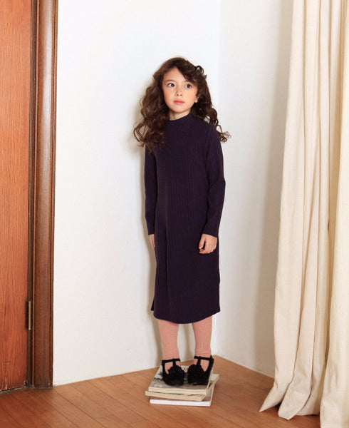 Basic Long Dress - Navy-Dress-benne bonbon
