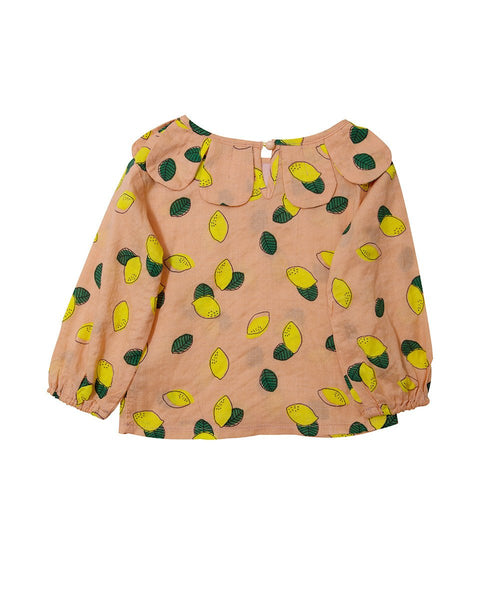 Lemon Flower Full Sleeve Blouse - benne bonbon