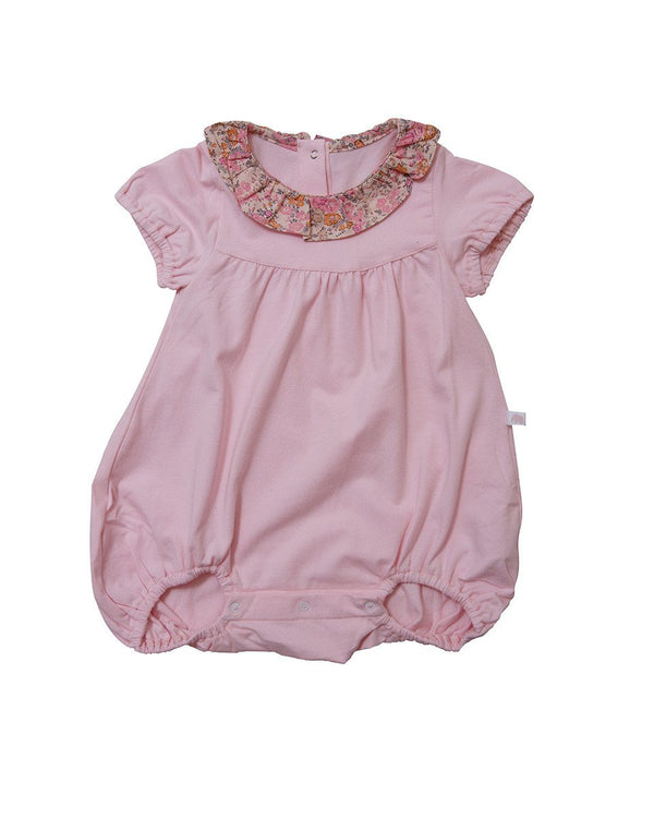 Squishy Floral Ruffled Short Sleeve Bodysuit - benne bonbon
