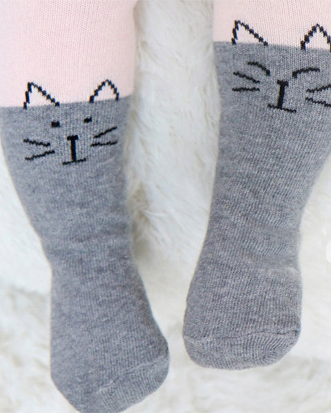 Cat And Bear Tights with Socks, Set of 2 - benne bonbon