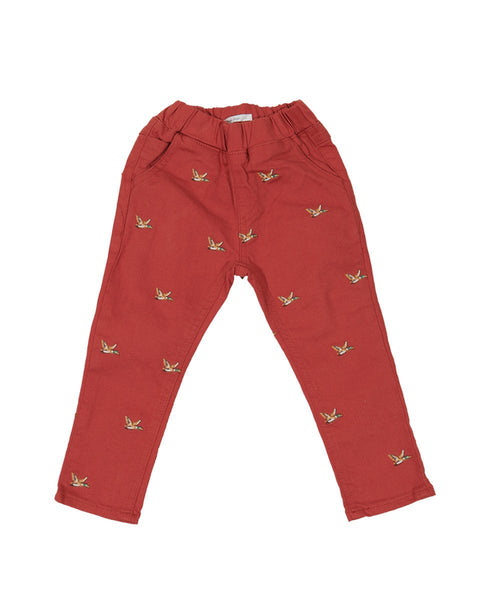 Flying Duckies Printed Pants - benne bonbon