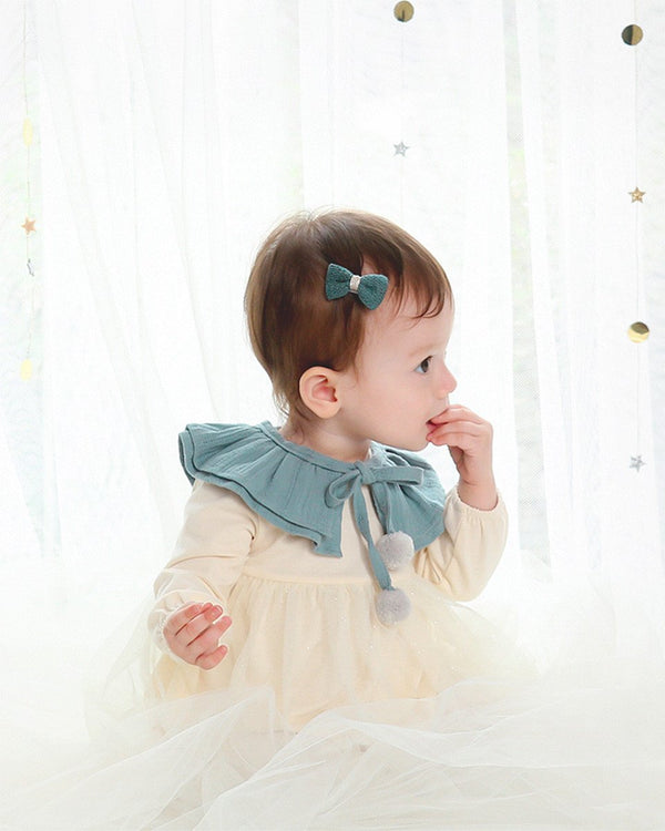 Soft Cotton Ruffled Cape, Blue/Pink-Acc, Cape-benne bonbon