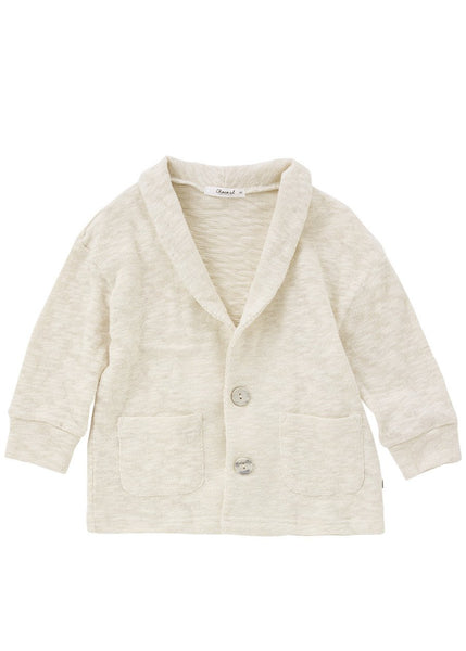 Grass Button Closure Popcorn Cardigan - benne bonbon