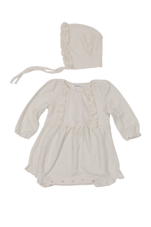 Powder Romper Bodysuit and Bonnet Set-Bodysuit, Romper, Onesie-benne bonbon