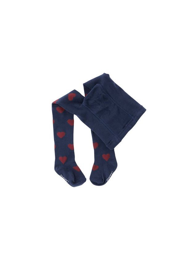 Heart Stocking - Navy-Acc, Tights, Socks-benne bonbon