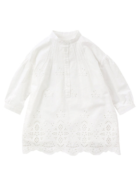 White Floral Lace Dress - benne bonbon