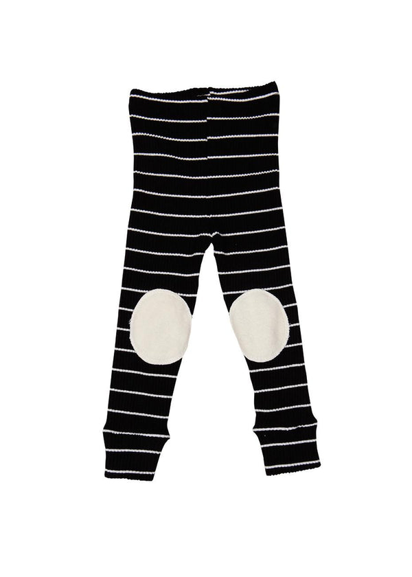 Striped Knee Patch Leggings, 3 Colors-Bottom, Leggings-benne bonbon