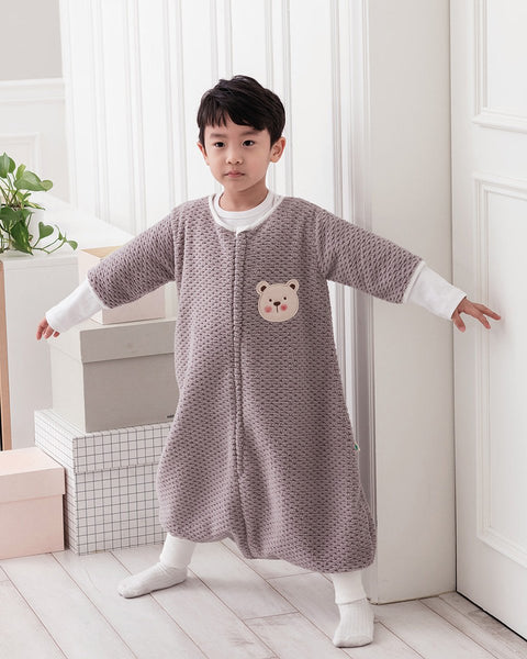 Waffle Wearable Blanket Sleep Sack - GREY - benne bonbon