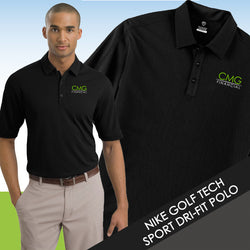 CMG Nike Golf Tech Sport Dri-FIT Polo