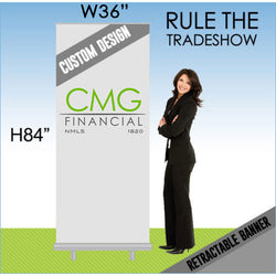 CMG Goldstep Retractable Banner 36