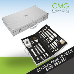 CMG Central Park 18 Piece Steel BBQ Set