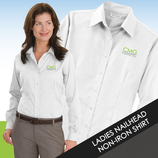 CMG Ladies Nailhead Non-Iron Shirt