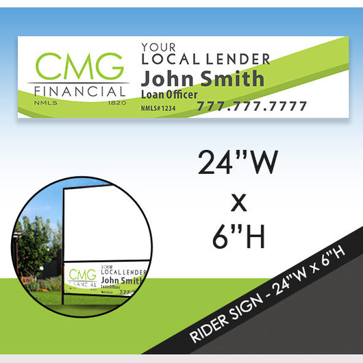Promotional Rider Sign - Dual Sided