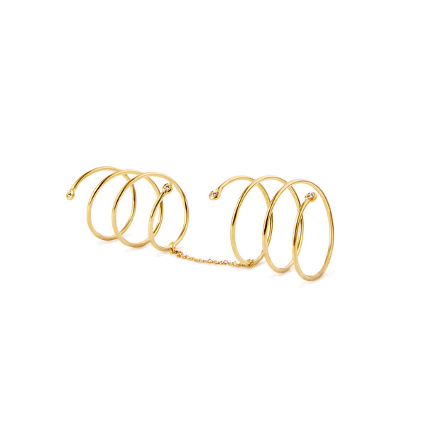 Helix Double Spiral Rings - Ring Chorthip