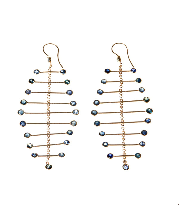 Arisa Azure Mobile Earrings - Earrings Chorthip