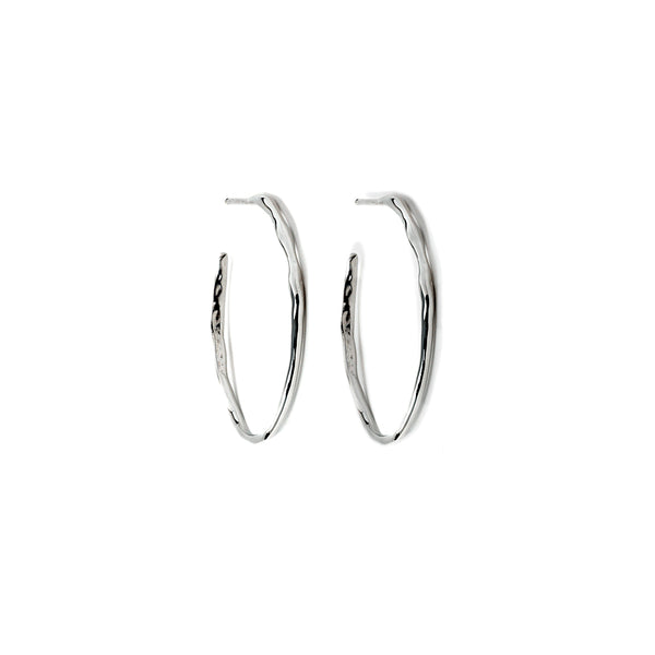 Large Raindrop Hoop Earrings - Earrings Chorthip