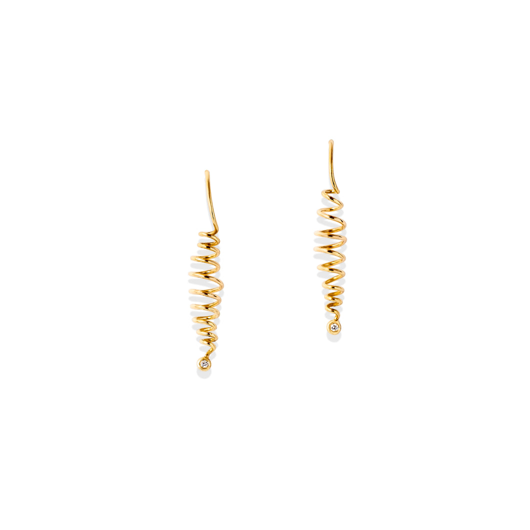 Helix Spiral Earrings - Earrings Chorthip