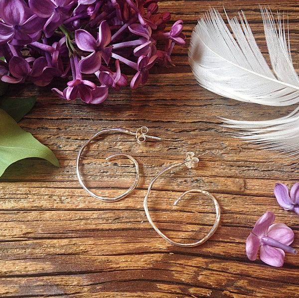 Spiral Hoop Rain Earring - Earrings Chorthip