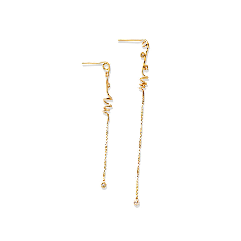 Helix Spiral Drop Earrings - Earrings Chorthip