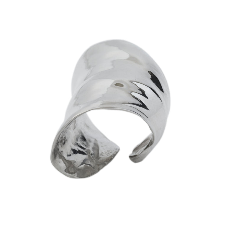 Silver Leaf Ring - Earrings Chorthip
