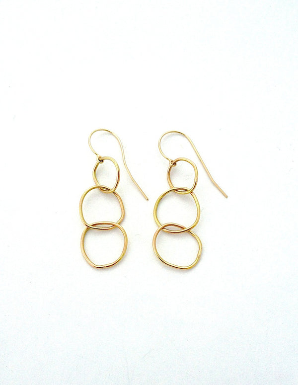 Triple Link Earring - Earrings Chorthip